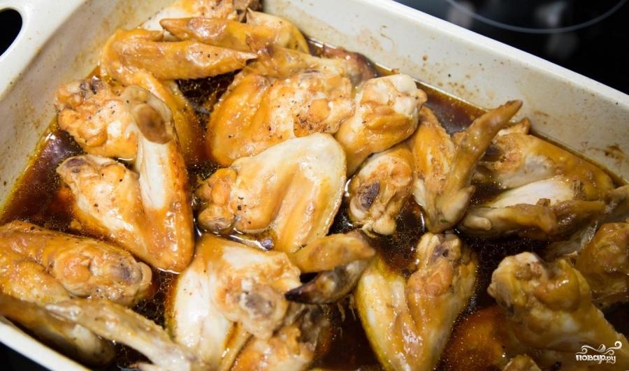 Куриные крылышки в глазури - фото шаг 7