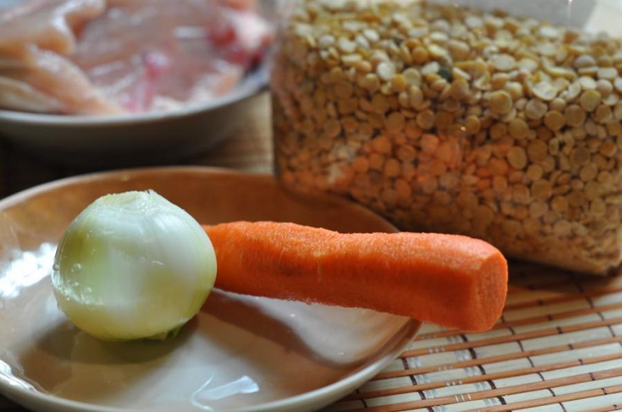 Рецепт Горох с курицей в мультиварке