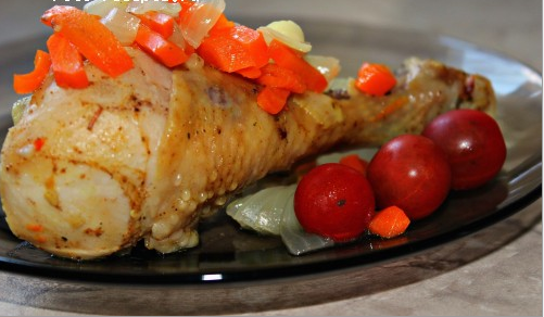 Курица с овощами в микроволновке - фото шаг 4