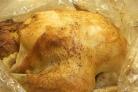 Фаршированная курица в рукаве