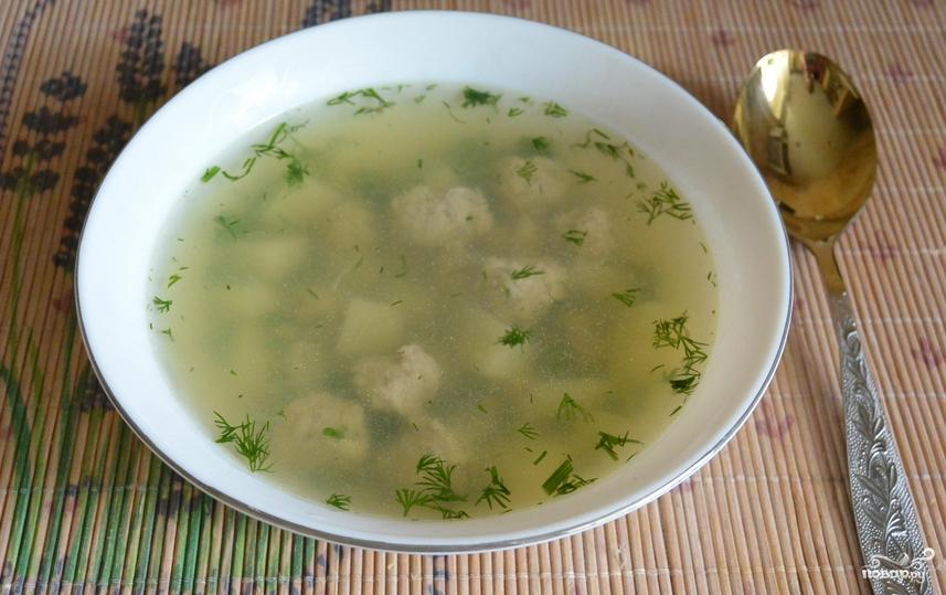 Суп с фрикадельками для детей - фото шаг 7
