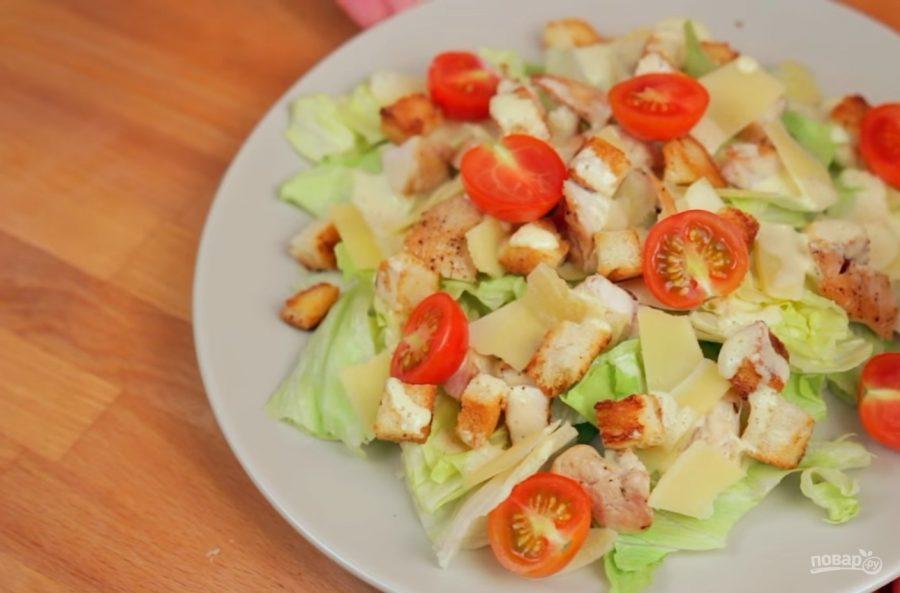 Цезарь салат своими руками 3