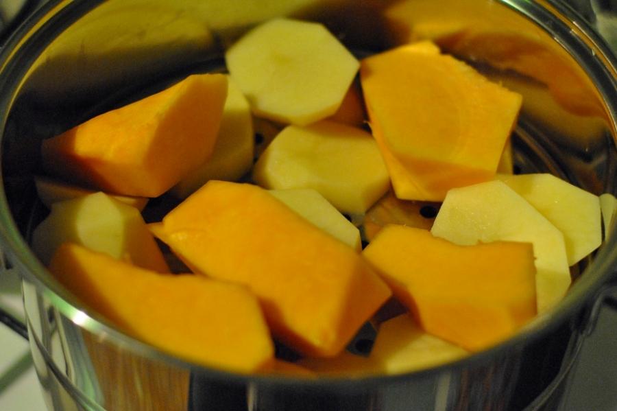 Рецепт Вегетарианский тыквенный суп-пюре