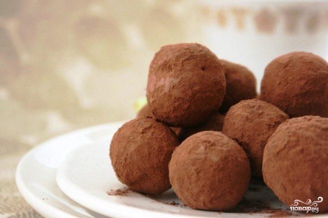 Трюфели с сухофруктами и орехами
