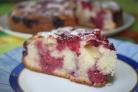 Пирог с малиной простой