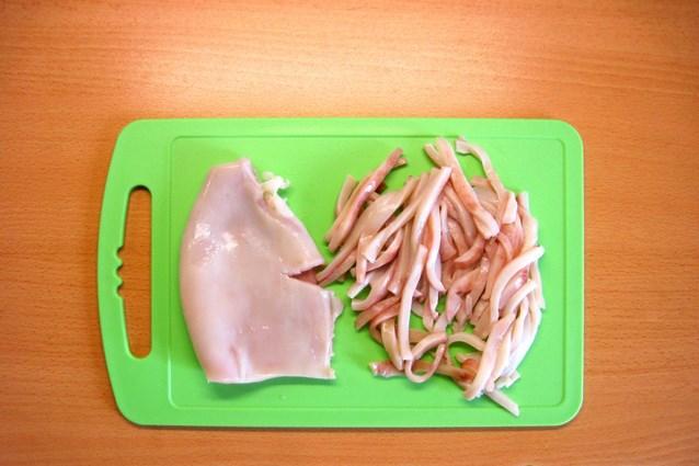 Рецепт Кальмары, жареные с луком