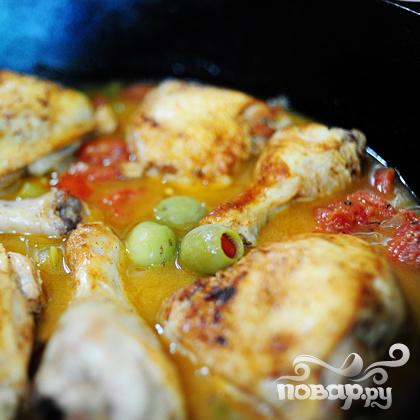 Курица с оливками - фото шаг 17
