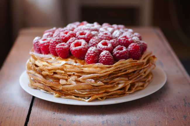 Блинный пирог со сгущенкой - фото шаг 3