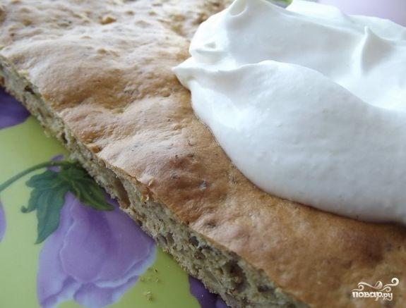 Бисквитный торт с грецкими орехами - фото шаг 3