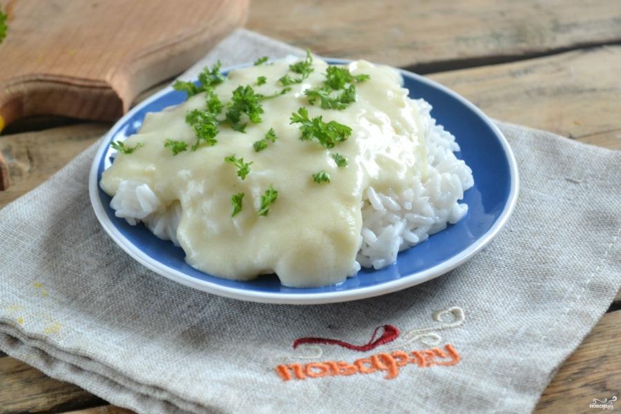 Рис под сливочным соусом - фото шаг 4