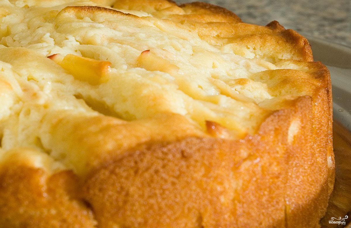 Яблочный пирог с творогом в мультиварке рецепты с