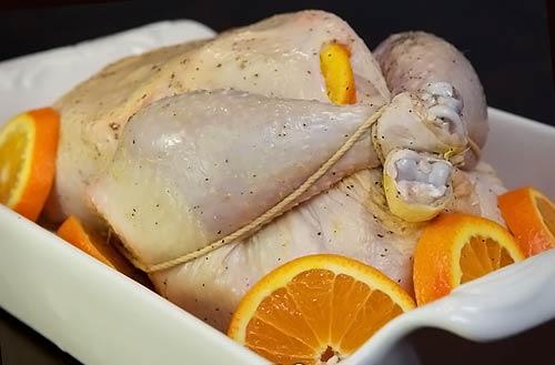 Курица в духовке с апельсинами - фото шаг 8
