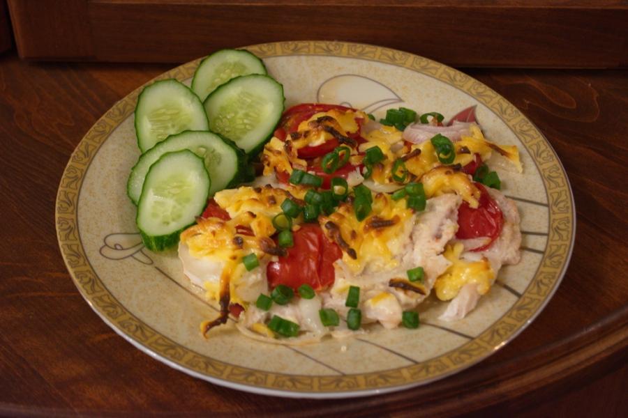 Отбивные в духовке с помидорами и сыром - фото шаг 5