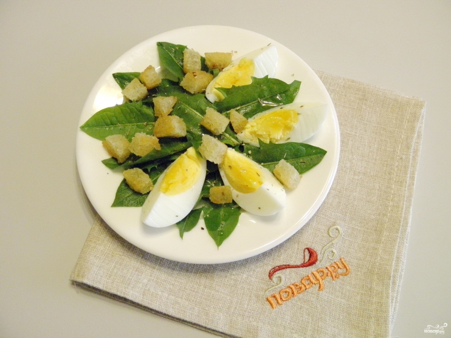 Салат из одуванчика - фото шаг 6