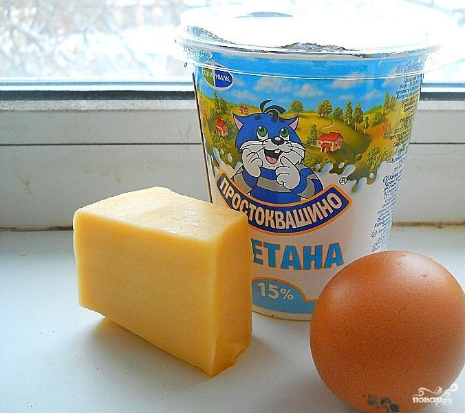 Рецепт Яичница со сметаной