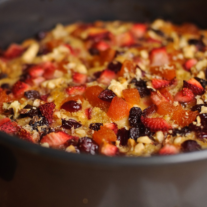 Яблочный пирог с фруктами - фото шаг 9