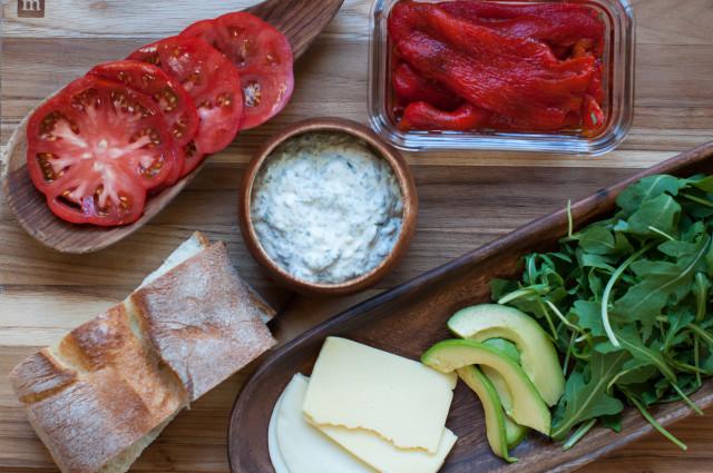 Сэндвичи с болгарским перцем - фото шаг 1