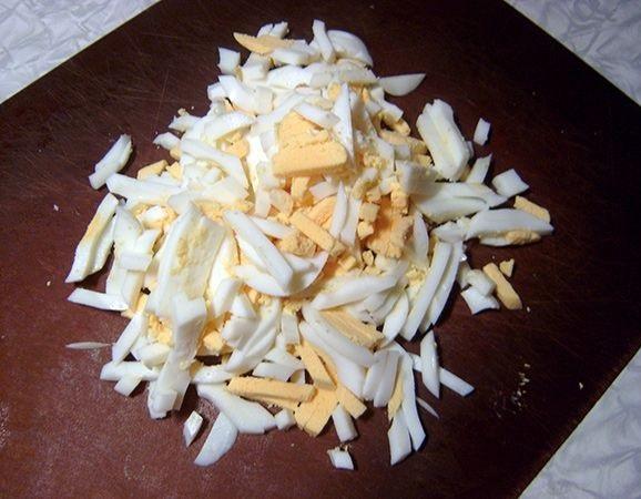 Салат с грибами и ветчиной - фото шаг 4