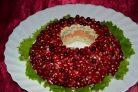 Гранатовый браслет салат без свеклы