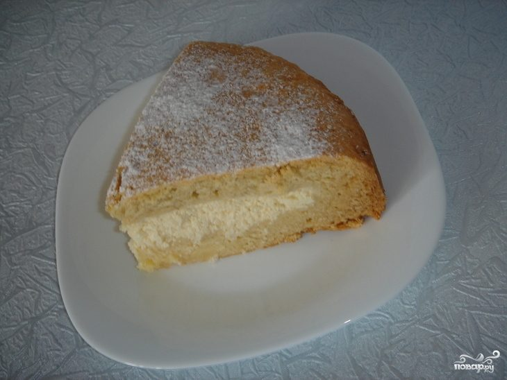 Простой творожный пирог