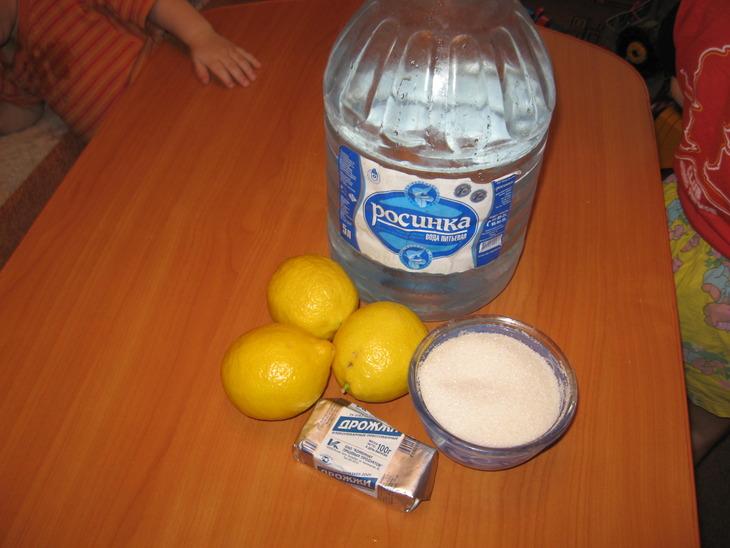 Рецепт Квас из лимона