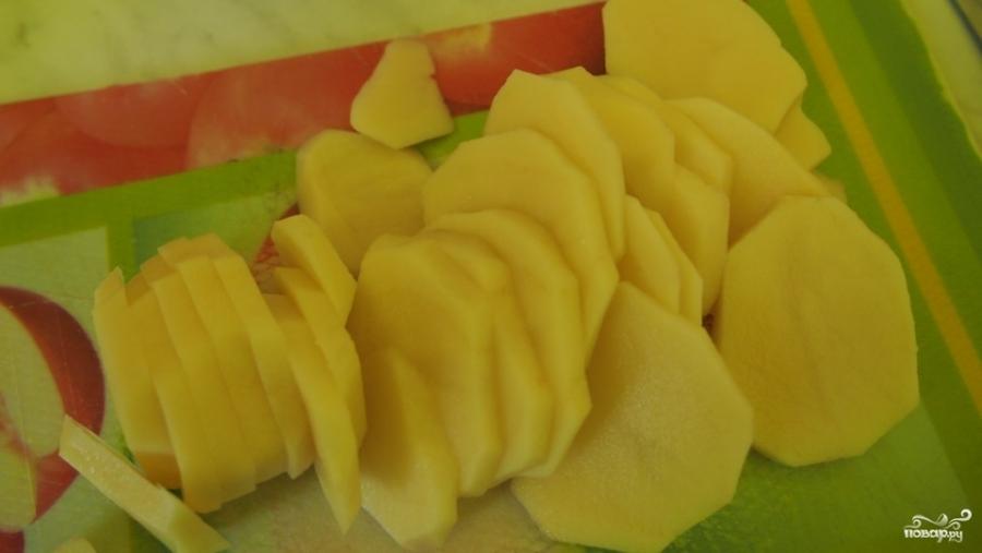 Индейка, запеченная с картофелем под сыром - фото шаг 2