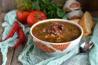 Пряный суп с чечевицей и рисом