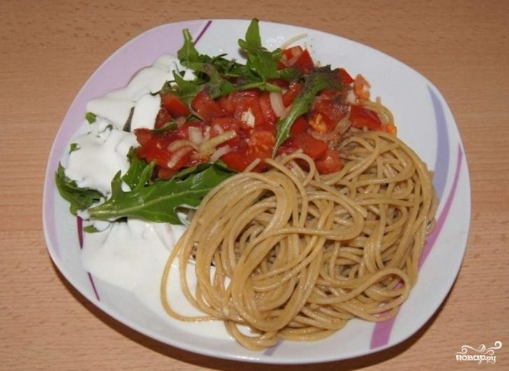 Рецепт Салат к спагетти
