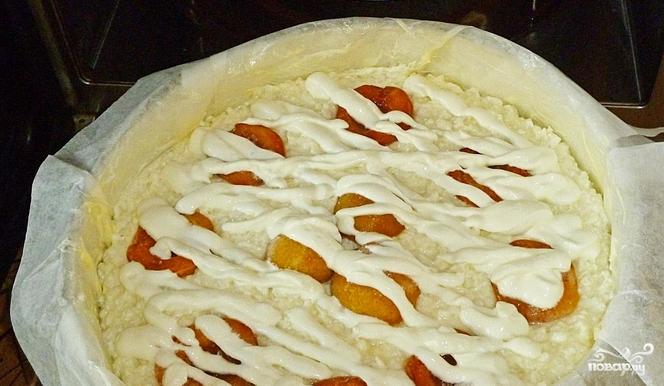 Творожно-рисовая запеканка с абрикосами - фото шаг 11