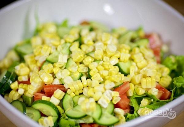 Салат с моцареллой - фото шаг 6