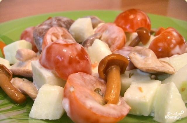 Салат из соленых грибов рецепт