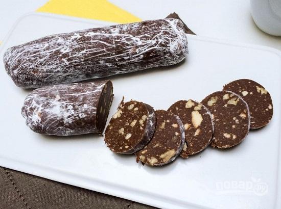 Шоколадная колбаса рецепт с фото пошаговый