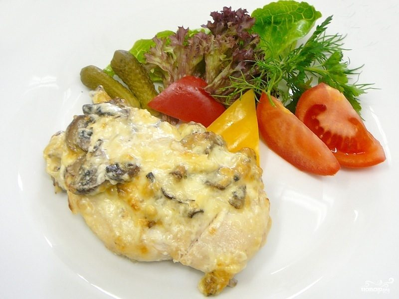 Рецепт Курица с опятами в духовке