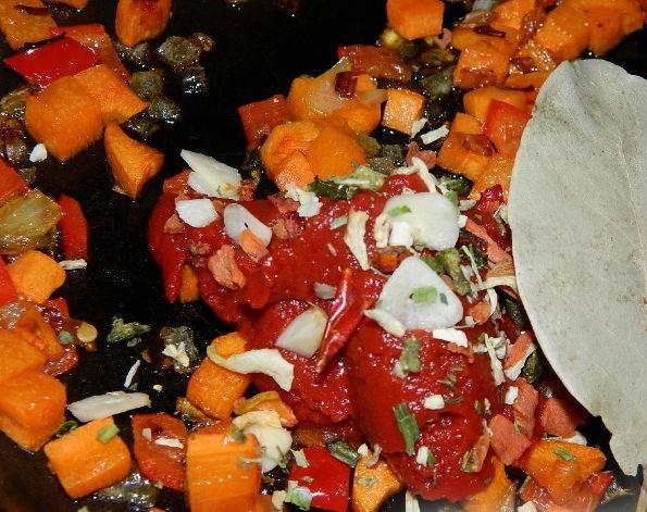 Вегетарианский суп с рисом - фото шаг 7