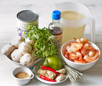 Рецепт Кокосовый суп с креветками