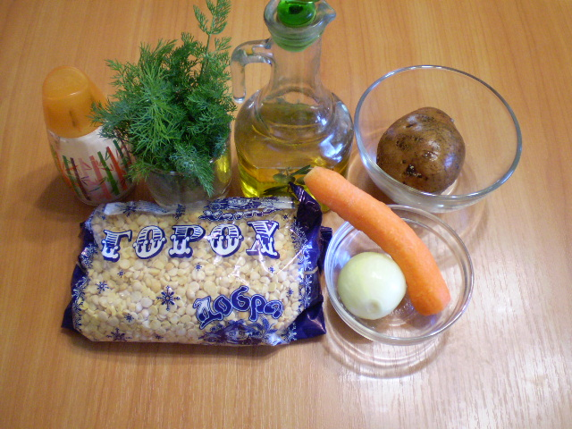 Рецепт Гороховый суп на воде