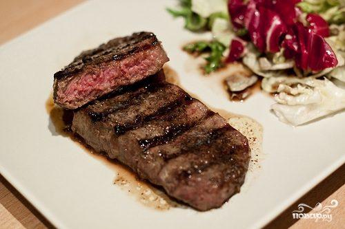 Рецепт Антрекот из говядины на сковороде