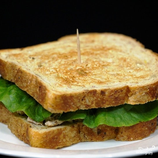 Сэндвичи с салатом из тунца - фото шаг 12