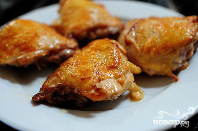 Курица с соусом из виски и персиков - фото шаг 2