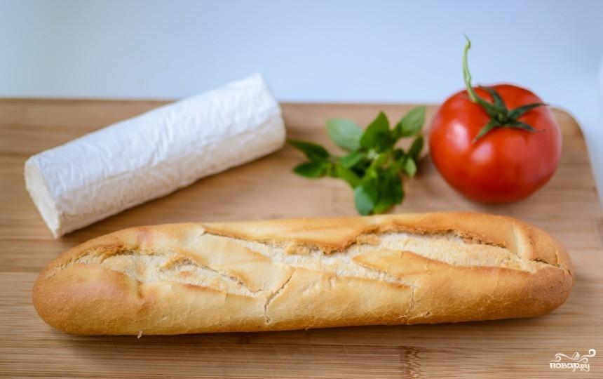 Рецепт Запеченный бутерброд с сыром и помидорами