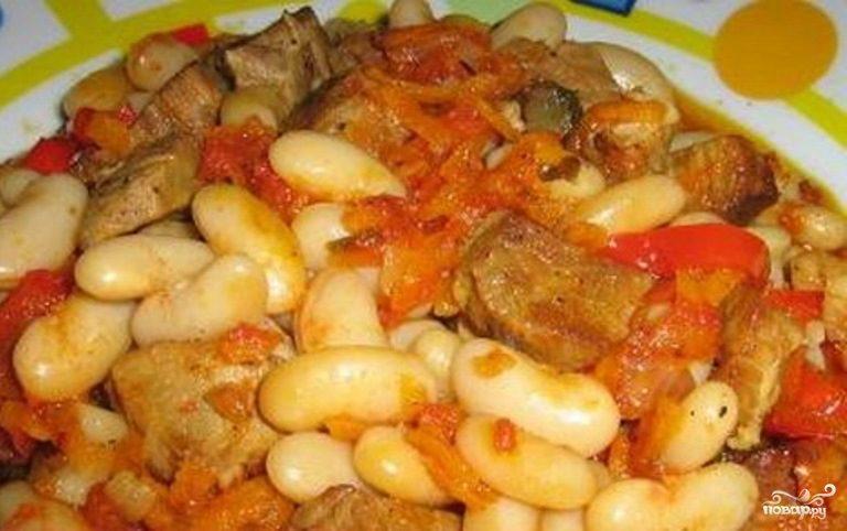Рецепт Козлятина с фасолью