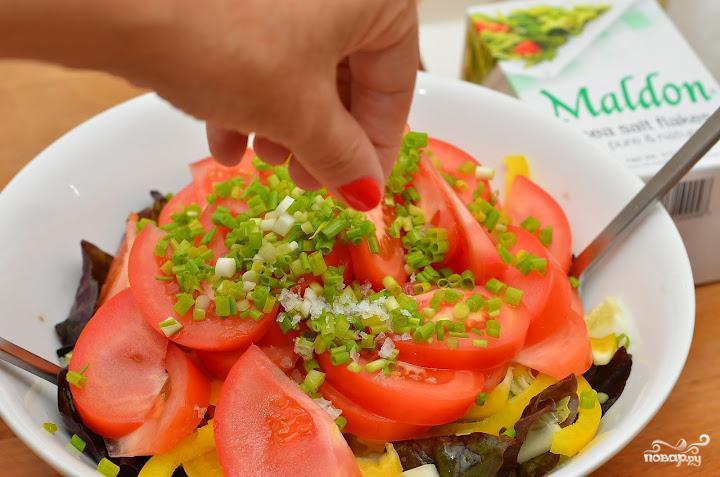 Салат с лимонной заправкой - фото шаг 5