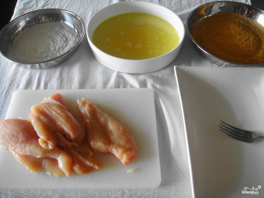 Кусочки куриного филе в кляре - фото шаг 2