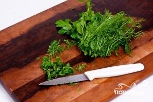 Салат греческий с оливками - фото шаг 5