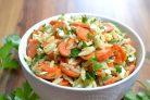 Салат с морковью и сыром Фета