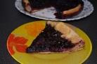 Пирог с черникой из слоеного бездрожжевого теста