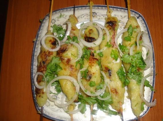 Кебаб из картофеля - фото шаг 3