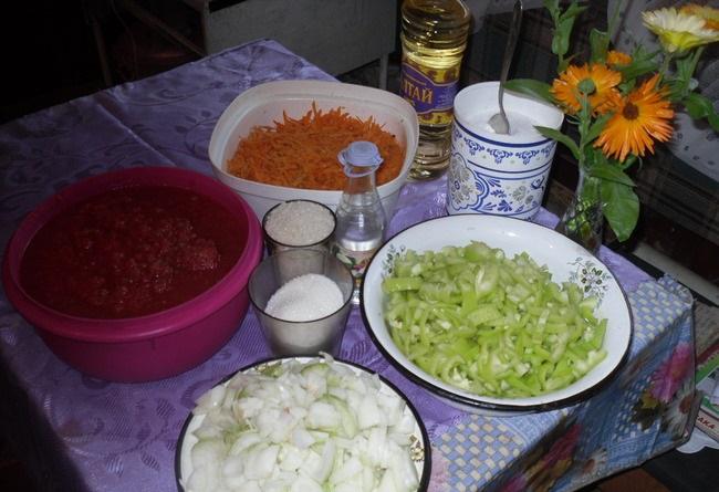 Лечо с рисом - фото шаг 1