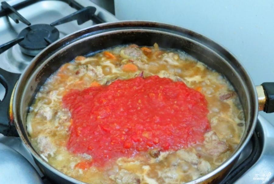 Томатный соус со свининой - фото шаг 4