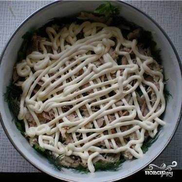 рецепт салат поляна с огурцом